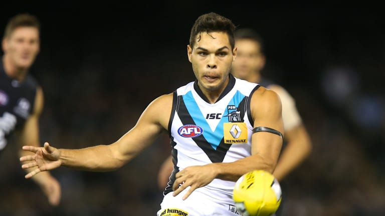 Jarman  Impey played 75 games in four seasons with Port Adelaide.