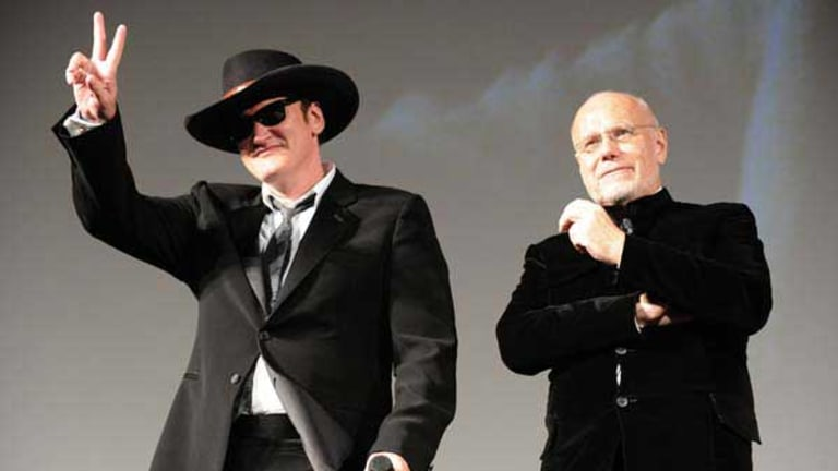 Jury president Quentin Tarantino with festival boss Marco Mueller (left). <i>Picture: AFP</i>