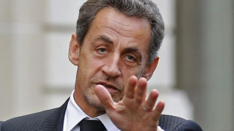 "Former French president Nicolas Sarkozy in 2012. Mr Sarkozy is under investigation for ""influence peddling"", a criminal offence in France."