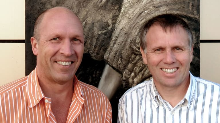 Gour Lentell (left) with biNu co-founder Dave Turner.