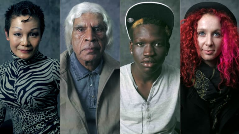 Stories to tell: Portraits from Ben Lawrence's <em>Redfern, I Love You series</em>; (from left) Kitty, Allan, Miguel, and Ella.
