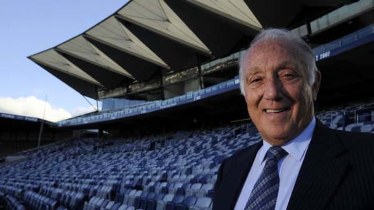 Geelong president Frank Costa at Skilled Stadium.
