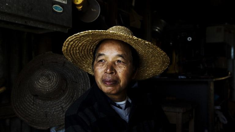Robert Teng in his shed.