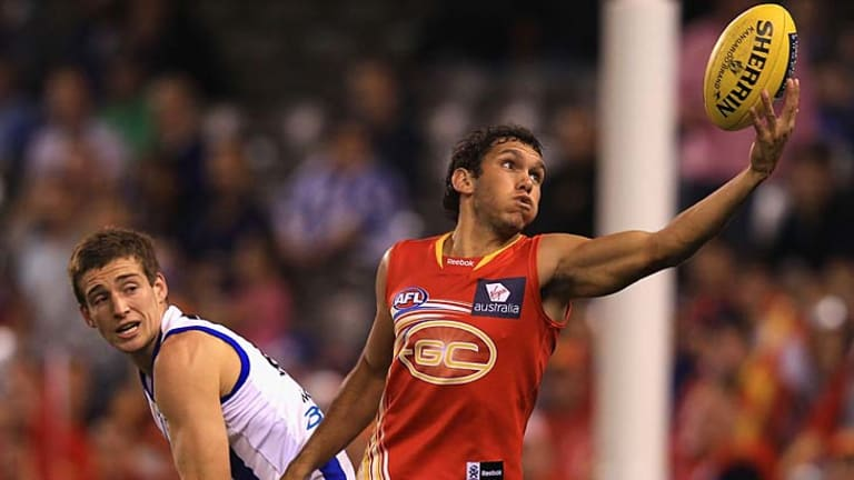 Ball on a string .... Gold Coast's Harley Bennell is averaging more than 21 possessions per game this season.