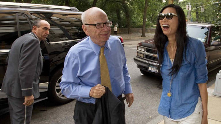 Rupert Murdoch and his wife Wendi Deng.