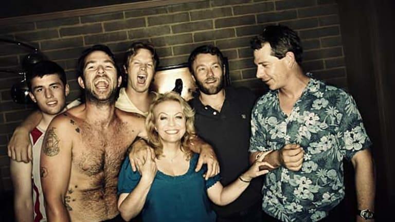 Animal Kingdom cast: James Frecheville, Sullivan Stapleton, Luke Ford, Jacki Weaver, Joel Edgerton and Ben Mendelsohn.