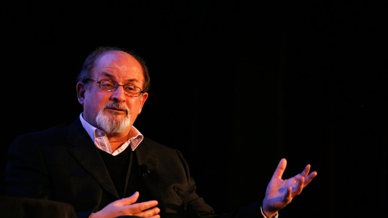 'Horribly wrong': Salman Rushdie says Carey, a friend, is wrong to withdraw.