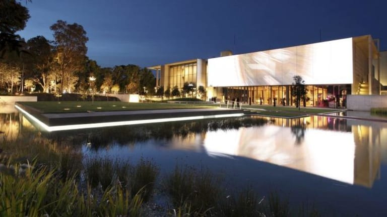 The design of the National Gallery of Australia's new entrance and Australian Garden by McGregor Coxall.