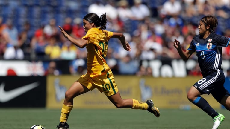 Kerr played her first game for the Matildas at age 15.