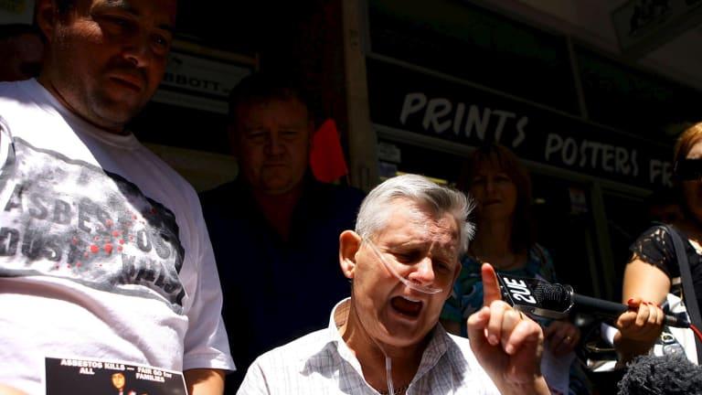 Dust disease victim and campaigner, the late Bernie Banton