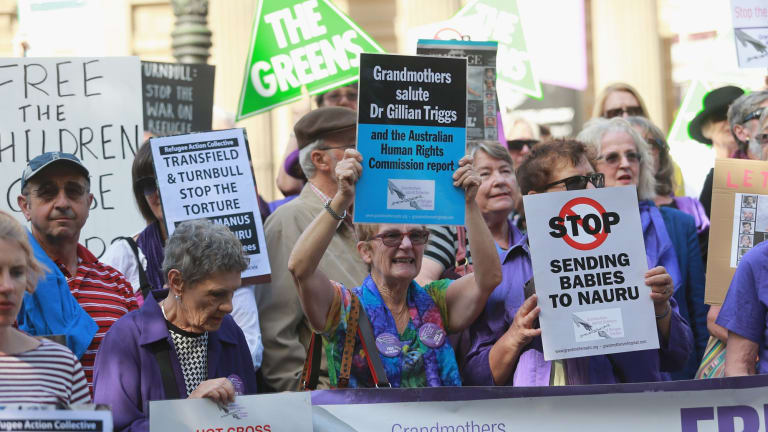 The Let Them Stay rally was organised by the Refugee Action Collective.