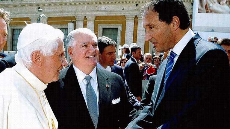 Pope Benedict XVI meets Rodney Adler in rome.