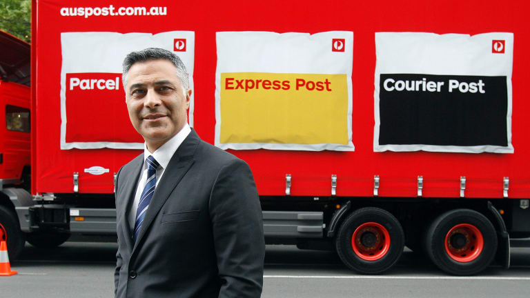 """Australia Post managing director Ahmed Fahour said the changes meant the business represents a shift from """"a letters business to a parcel business""""."""
