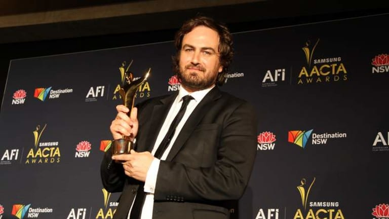 Justin Kurzel, here with his 2012 best director AACTA award for <i>Snowtown</i>, is attached to direct an adaptation of Peter Carey's novel <i>The True Story of the Kelly Gang</i>.