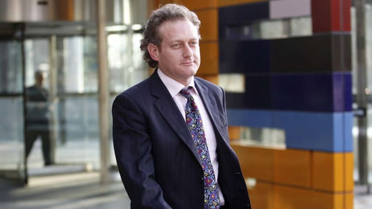 Full-frontal challenge ... David Manne leaves the High Court in Melbourne.