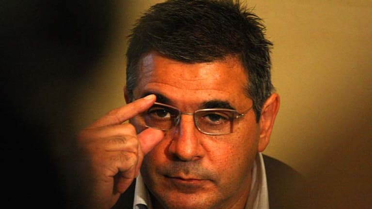 Andrew Demetriou has become something of a travelling salesman in recent months.
