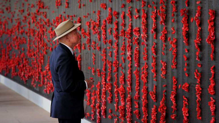 The roll of honour at the Australian War Memorial.