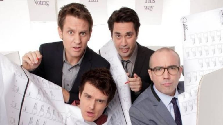 Watchdog bites ABC over sketch: The Chaser team from The Hamster Decides.