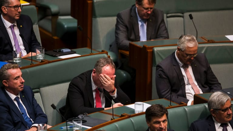 Not sure Barnaby Joyce enjoyed Question Time all that much.