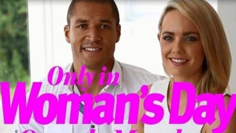 Ready to tell all: Blake Garvey and Louise Pillidge on the cover of <i>Woman's Day</i>.