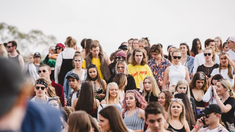 Punters at Groovin the Moo 2018.