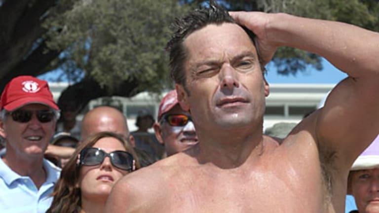 WAtoday Rottnest Channel Swim winner Deane Pieters.
