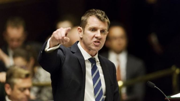 "Described the new federal budget as ""a kick in the guts"": NSW Premier Mike Baird."
