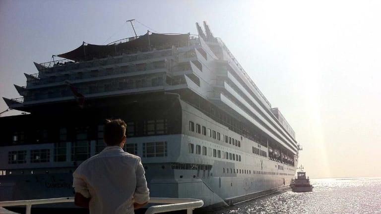 "The ""Celebrity Cruise"" ship."