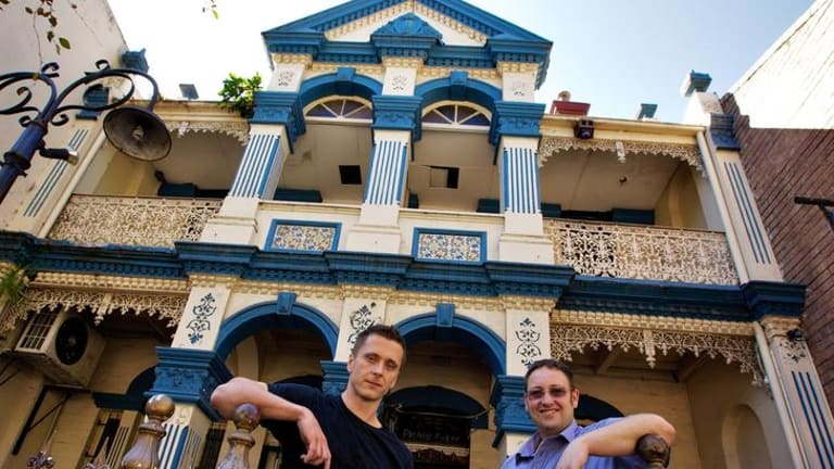 New venture ... Richard Dobson (left) will open Guerilla Restaurant & Bar with Tim Pullen.