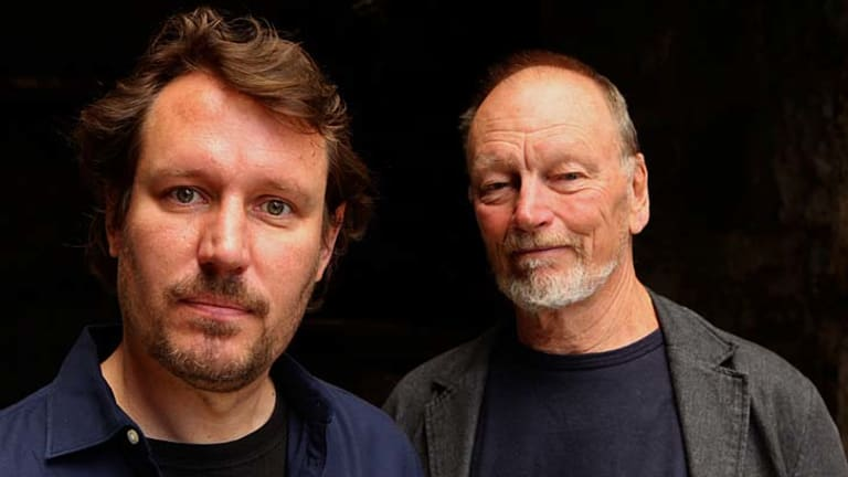 An eye on succession ... Peter Evans, left, and John Bell will share the artistic vision for Bell Shakespeare.
