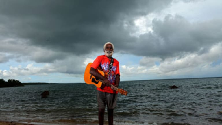''Our culture was always there'' ... Dick Munungugu, an Elcho Island musician, has been playing the guitar for 50 years.
