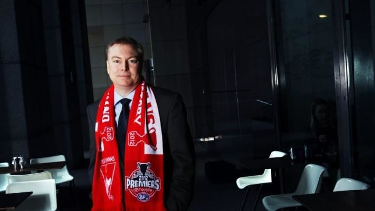 War of words: Swans chairman Andrew Pridham.