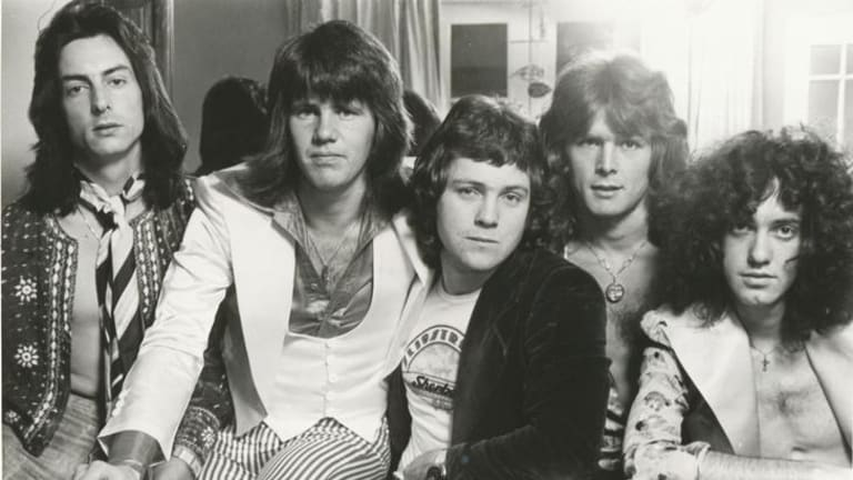 Clive Shakespeare (far left) in his early Sherbet days.