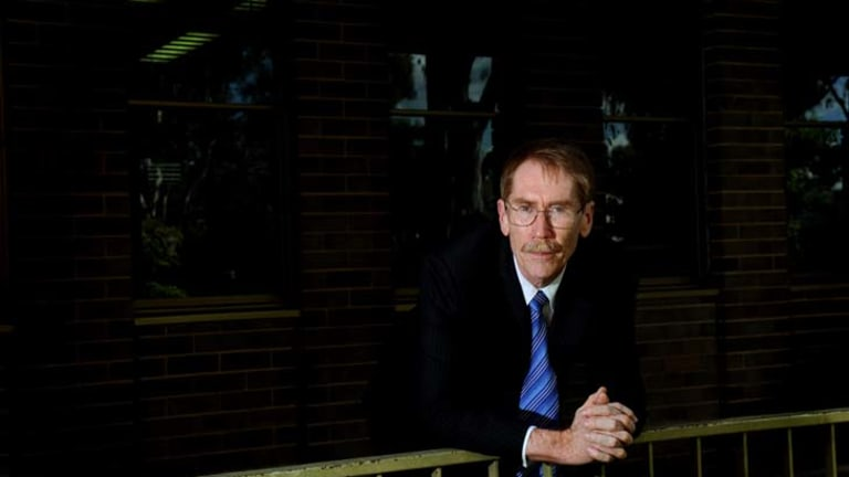 Out of tune ... Vice-chancellor Ian Young has met opposition to proposed School of Music cuts.
