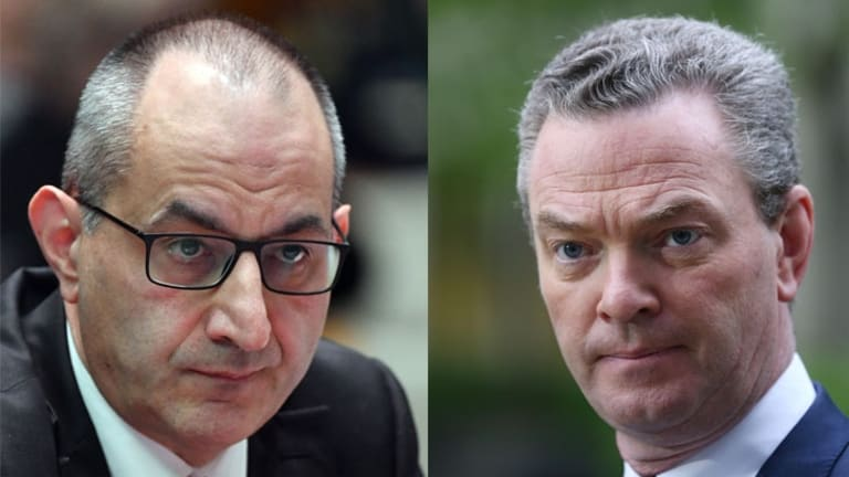 Immigration Department and Border Force head Mike Pezzullo, and Defence Industry Minister Christopher Pyne.