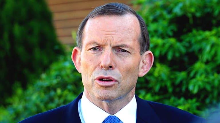 Panic: Tony Abbott.