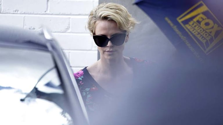 Mad Max star Charlize Theron was spotted lunching in Sydney.