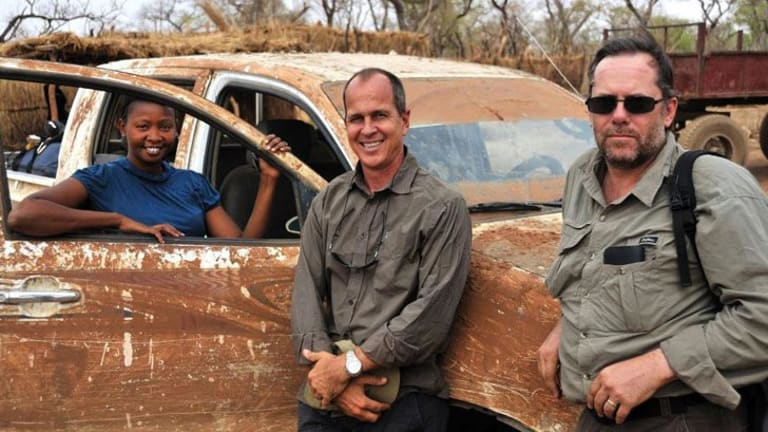 Australian journalist Peter Greste (centre) has been detained in Egypt.
