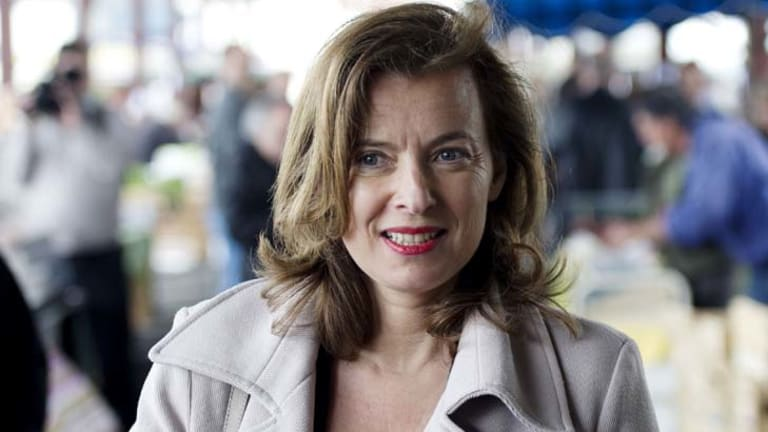 Valerie Trierweiler,  the partner of Socialist Francois Hollande, who is expected to win the French election.