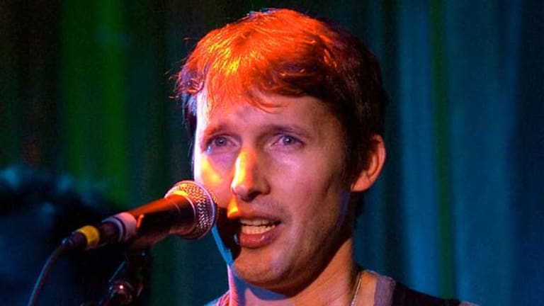 Soldier turned singer ... James Blunt performs in Hollywood last Friday.
