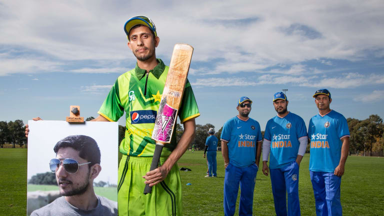 Zeeshan Akbar's brother Faizan played in a cricket match with members of Canberra's Pakistani and Indian community to honour his memory.