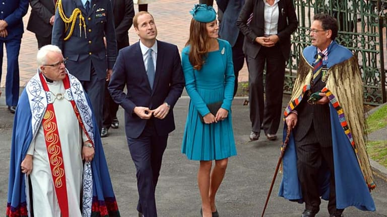 The royals at St Paul's Cathedral, Dunedin.