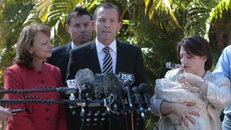 """Opposition Leader Tony Abbott has landed in hot water for an """"inappropriate"""" remark."""
