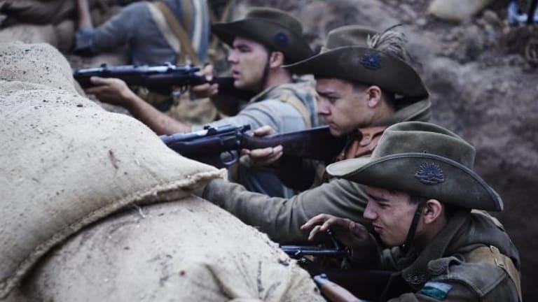 Harrowing: A scene from <i>Gallipoli</i>.