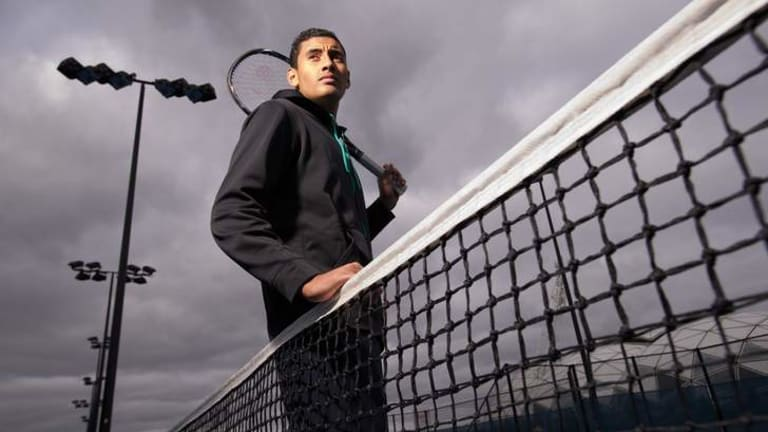 Potential: Nick Kyrgios has been described by Wally Masur as ''one of the most exciting young prospects in Australian tennis''.