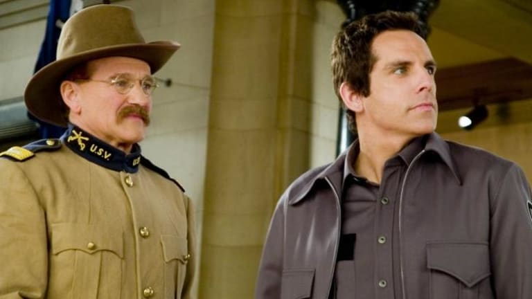 """Robin Williams' final role, alongside Ben Stiller, in """"Night at the Museum: Secret of the Tomb""""."""