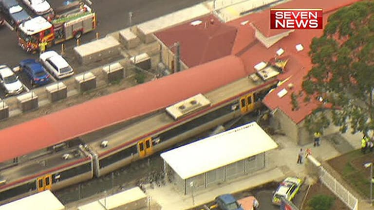 Aerial shot of the train crash in Cleveland.