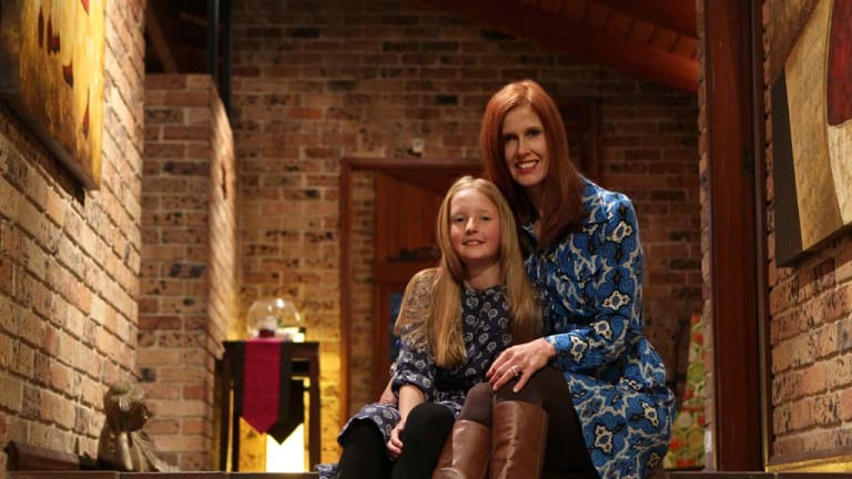 Word power....Indigo Wallace, nine, with her mother Catriona. They have co-founded a fund with her mother to help girls with literacy problems.