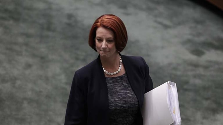 """""""The cabinet will back you but the caucus won't"""" ... Julia Gillard was forced to abandon her vote on a resolution to give Palestine observer status in the UN."""