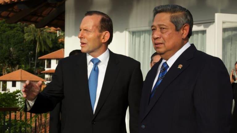 Tony Abbott and Susilo Bambang Yudhoyono in Indonesia in June.